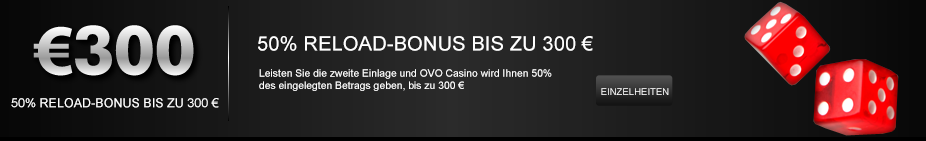OVO Casino Re Load Bonus